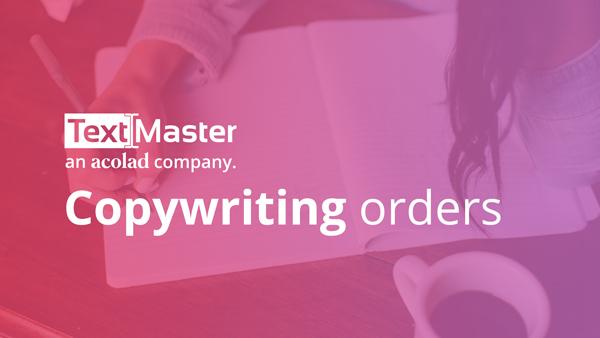 Copywriting orders