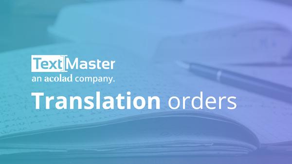 Translation orders